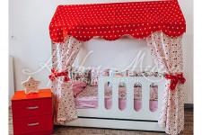 Детская кровать-домик с ящиком