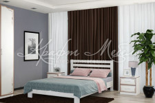 Кровать Вероника, массив (дуб белый, разные размеры)