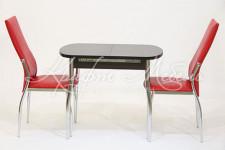 Столовая группа (стол Гала-7+2 стула Комфорт)