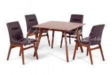 Комплект обеденный стол SINGA + 4 кресла REDANG.