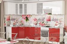 Кухня Асти (1.6м; 2.0м) ВВР (белый глянец/красный глянец)