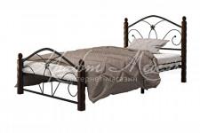 Кровать Селена-1 (чёрный/шоколад,900 мм)