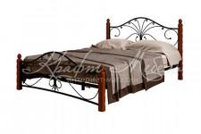 Кровать Фортуна-1 (черный/махагон)