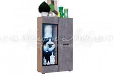 Шкаф-стекло (исп.2) Нэнси New Бетон