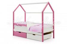 Детская кровать-домик Svogen лаванда-белый