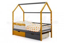 Детская кровать-домик Svogen дерево-графит
