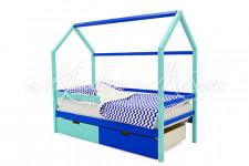 Детская кровать-домик Svogen мятно-синий