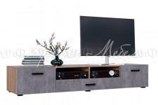 Тумба ТВ (2дв.+1ящ.) Нэнси New Бетон (2 цвета)