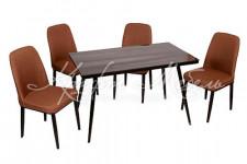Комплект обеденный (стол и 4 стула), арт. TB330+MC-15