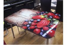 Стол стеклянный стол СТ1Ф (1100(1500)*700)