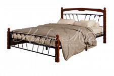 Кровать Муза-1 (черный/махагон)