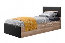 Кровать КР-12 Наоми (900 мм) (Дуб каньон/Серый)