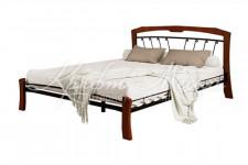 Кровать Муза 4 Лайт (черный/махагон)