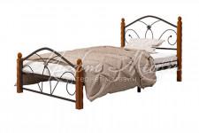 Кровать Селена-1 (чёрный/махагон,900мм)