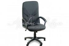 Кресло Фортуна 2 (1) К (ткань серая вставки кожзам)