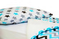Постельное белье  Графит, бирюза, серый  (подходит для кроватей-машин)