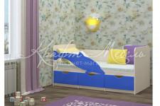 Кровать детская Дельфин-1 (1635*800*850)разные цвета,МИФ