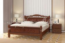 Кровать Карина-5, массив (орех,разные размеры)