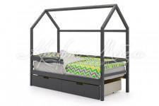 Детская кровать-домик Svogen графит
