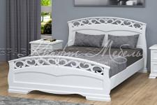 Кровать Грация-1, массив (белый античный, разные размеры)