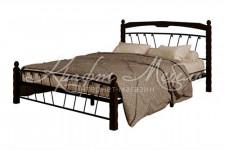 Кровать Муза-1 (черный/шоколад)