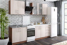 Кухня ЛДСП 2,0м (готовое решение)Нарус