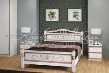 Кровать Карина-5 (дуб молочный, 0,9;1,2;1,4;1,6 м) массив