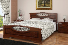 Кровать Елена-5 (орех,разные размеры) массив