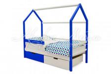 Детская кровать-домик Svogen сине-белый