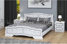 Кровать Карина-6 (белый жемчуг, разные размеры) массив