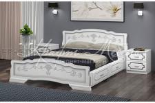 Кровать Карина-6 с ящиками (белый жемчуг; 0,9;1,2;1.4;1.6;1.8 м) массив