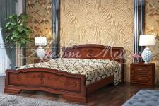 Кровать Карина-6 (орех,разные размеры) массив