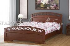 Кровать Грация-1, массив (орех,слоновая кость)