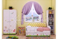 Детская комната Цветочные сны с тахтой