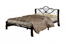 Кровать Венера 4 Лайт (черный/шоколад)