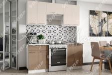 Кухня Асти (1.6м; 2.0м) ВВР (капучино глянец/горький шоколад глянец)