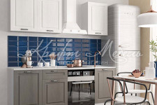 Модульная кухня Капри (липа белый/липа пепел) 1500 мм