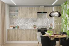 Модульная кухня Европа (3.3м,Серый Крафт)