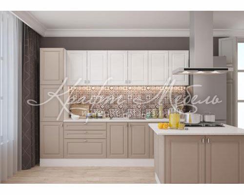 Модульная кухня Ева (несколько цветовых решений) мокко/белый софт