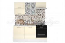 Модульная кухня Люкс (1.8м Ваниль глянец)