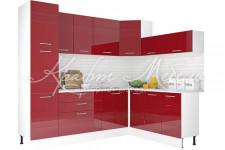 Модульная кухня Люкс (2.5м Рубин глянец)