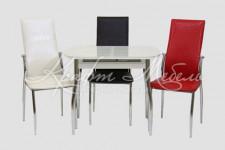 Столовая группа (стол Гала-7+3 стула Комфорт)