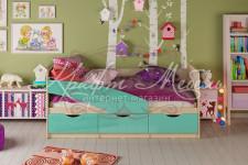 Кровать детская Дельфин (1636*800*850)разные цвета,МИФ