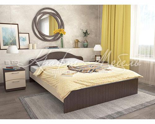 Кровать КР №2 ЛДСП 1.6 м (770*1640*2030)