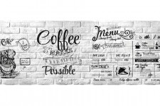 Фартук для кухни Абстракция 79 Кофейное меню