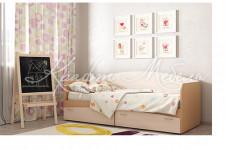 Кровать Кр-1 с 2 ящиками ЛДСП (800*2030*850)