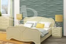 Кровать Натали (1.4м;1.6м) белый глянец