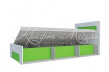 Кровать с ПМ (Д2048хВ903хШ960 мм) Палермо-3 (цветн. вставки)