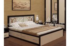 Кровать Мальта с ящиками (1,6м;1,4м)