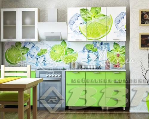 Кухня Лайм с фотопечатью (1.6м;1.8м;2,0м) готовые решения
